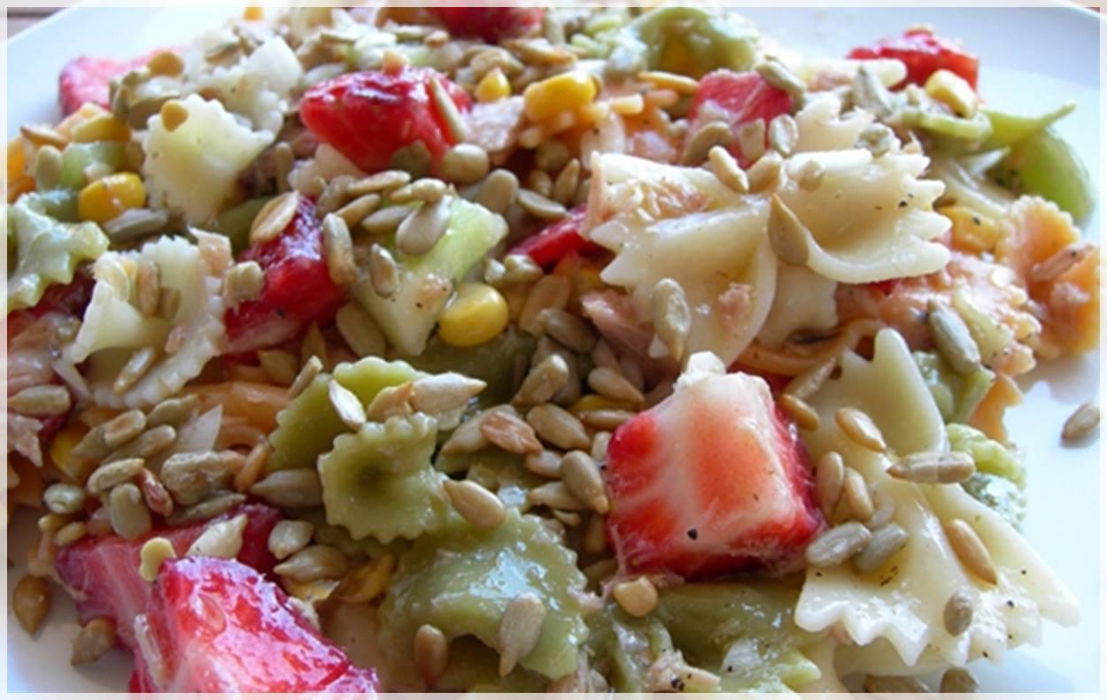 ensalada de pasta vegetal