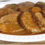 redondo de ternera con salsa de verduras