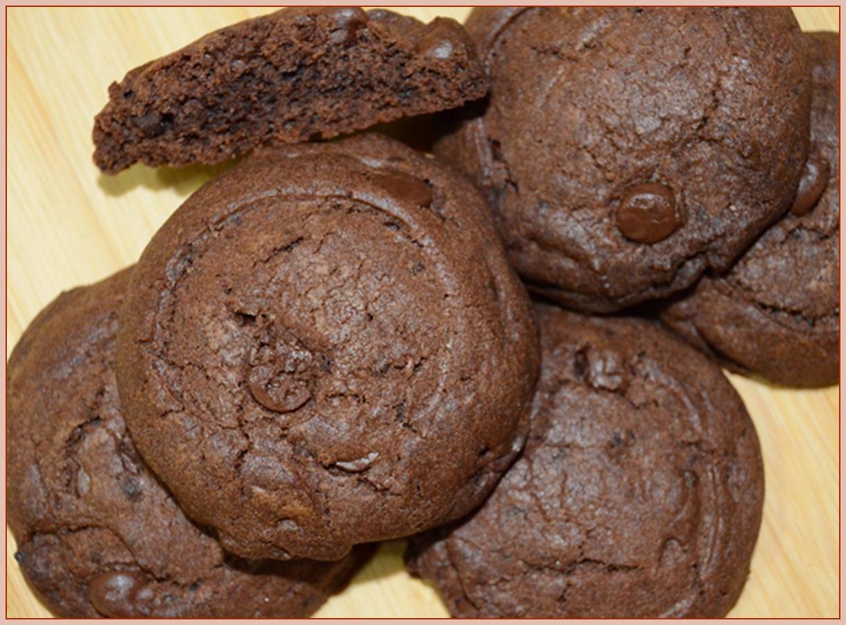 Galletas de chocolate en microondas